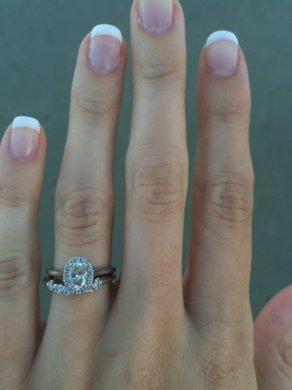I normally didn't wear my ring to the beach because I was terrified I'd lose it, but that first night I just couldn't take it off. My wedding band was my great-grandmother's anniversary band.