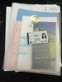 packet of info and ID card :D