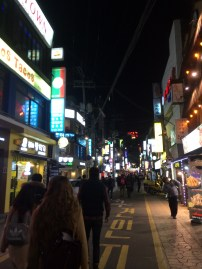 walking the streets on Sinchon