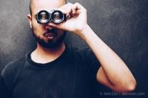 Self Portrait: Ashveen, with Mamiya Twin Lens