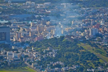 Climbing Le Pouce - View over Port Louis City