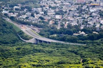 Climbing Le Pouce - Port Louis Link Road