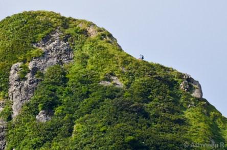 Climbing Le Pouce - The Thumb