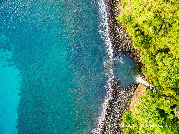 Drone Mauritius - Medine - Bassin Vert Waterfall