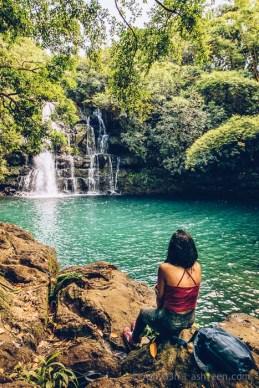 Eau Bleue Mauritius - Waterfall 4 Chilling