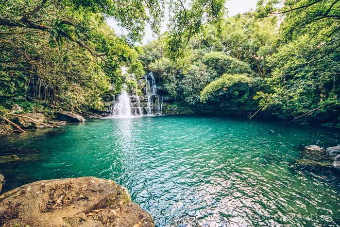 Eau Bleue Mauritius - waterfall 4 Landscape