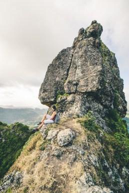 Hiking Pieter Both Mountain Mauritius - Admiring the View