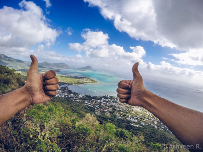 Hiking Tourelle Tamarin Mauritius - Thumbs Up