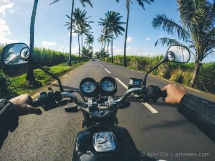 Road Trip Mauritius - Bel Ombre - Haojue 125