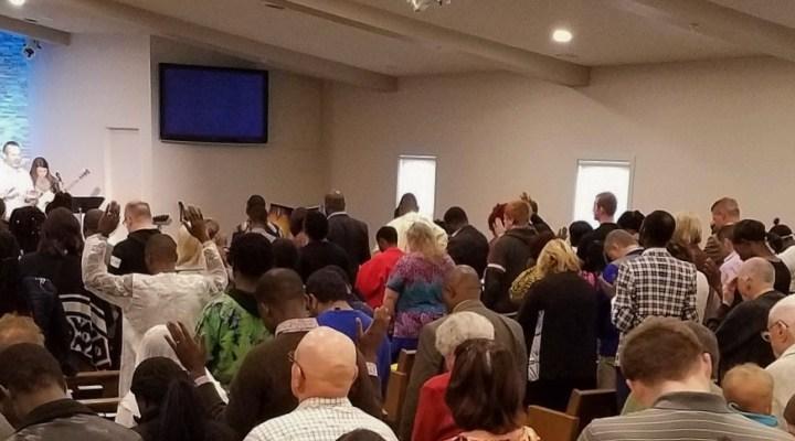 Sunday morning worship service at Ashworth Church