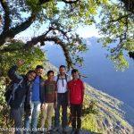 Zona boscosa descendiendo hacia Sidhing