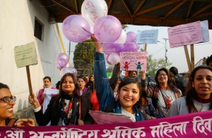 International Women's Day in Kathmandu