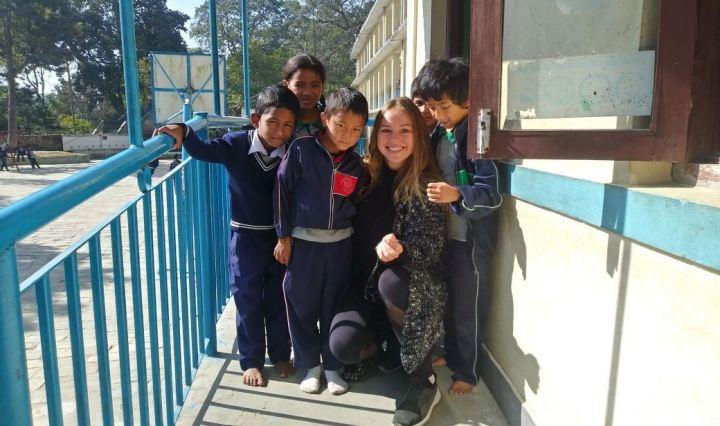Varios de los alumnos de Bungamati