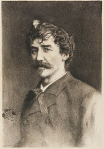 Sepia portrait of Whistler.