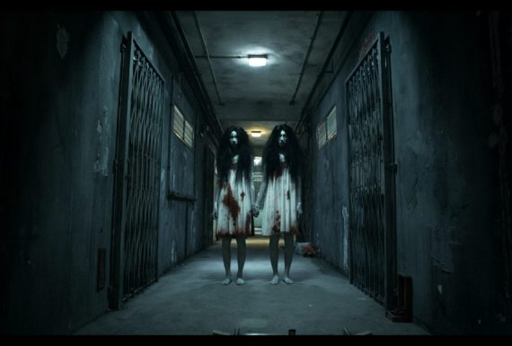 "Twin ghosts from the movie ""Rigor Mortis"""