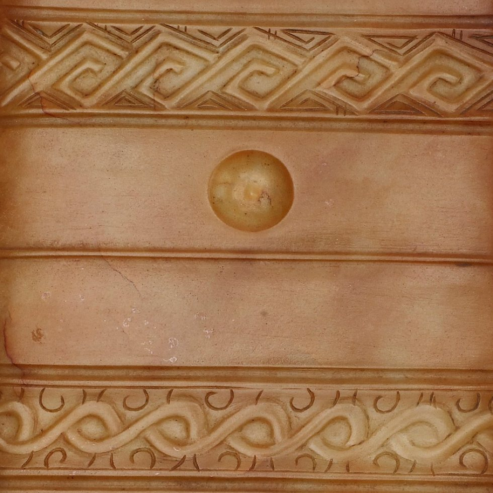 detail of a jade ceremonial object
