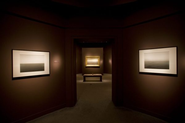 """An installation shot from the exhibition, """"Seascapes: Tryon and Sugimoto,"""" Arthur M. Sackler Gallery, 2009"""