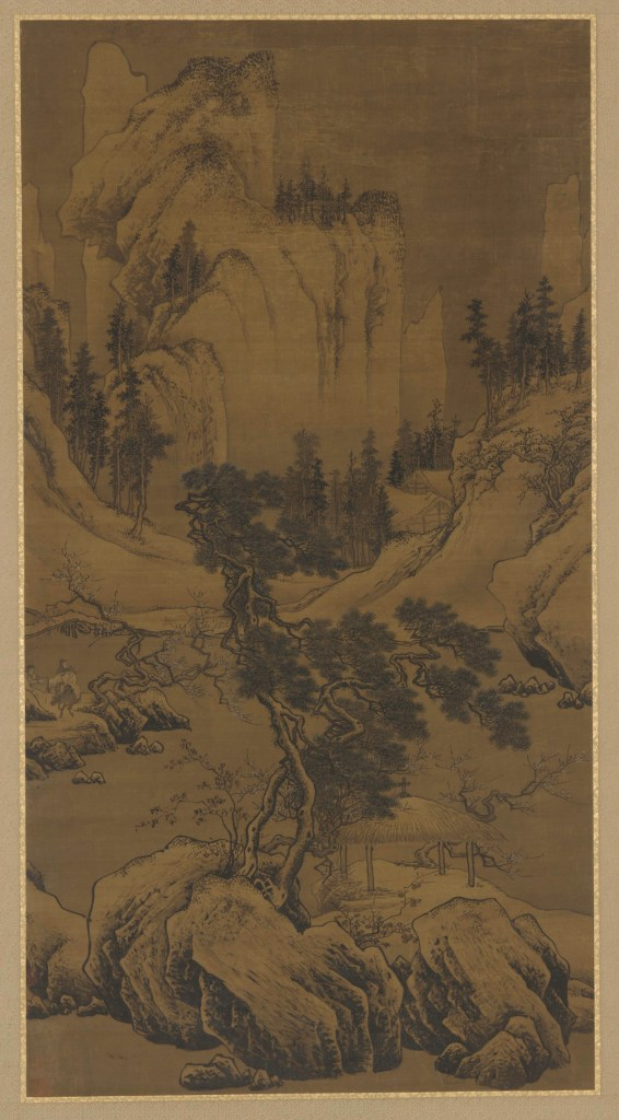 Searching for Plum Blossoms While Riding on a Donkey; probably Zhou Chen (ca. 1450–ca. 1535);  China, Ming dynasty, early 16th century; hanging scroll mounted on panel; ink and color on silk; Gift of Charles Lang Freer; Freer Gallery of Art, F1917.108
