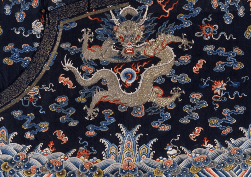 A detail of the robe.