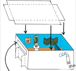 Detail from Mini Gallery instructions - diagram to assemble mini gallery