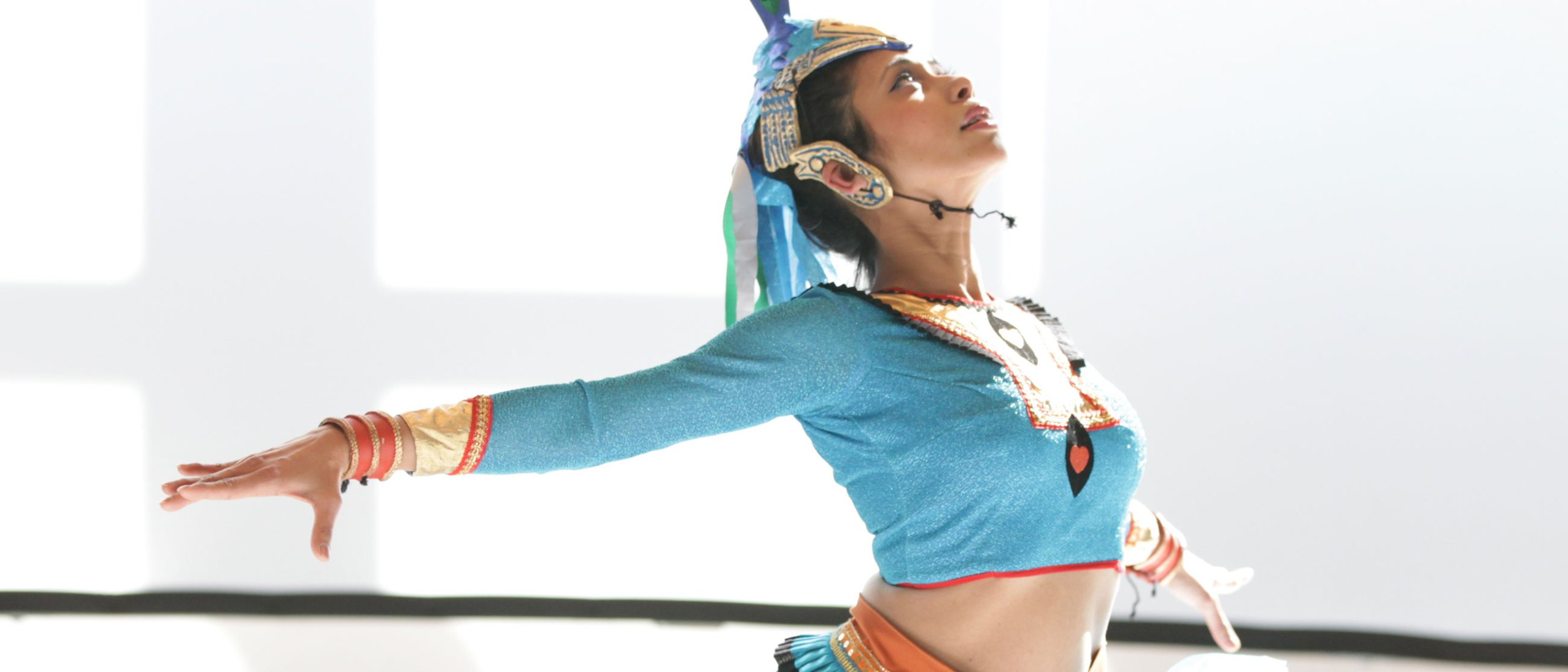 A dancer performing