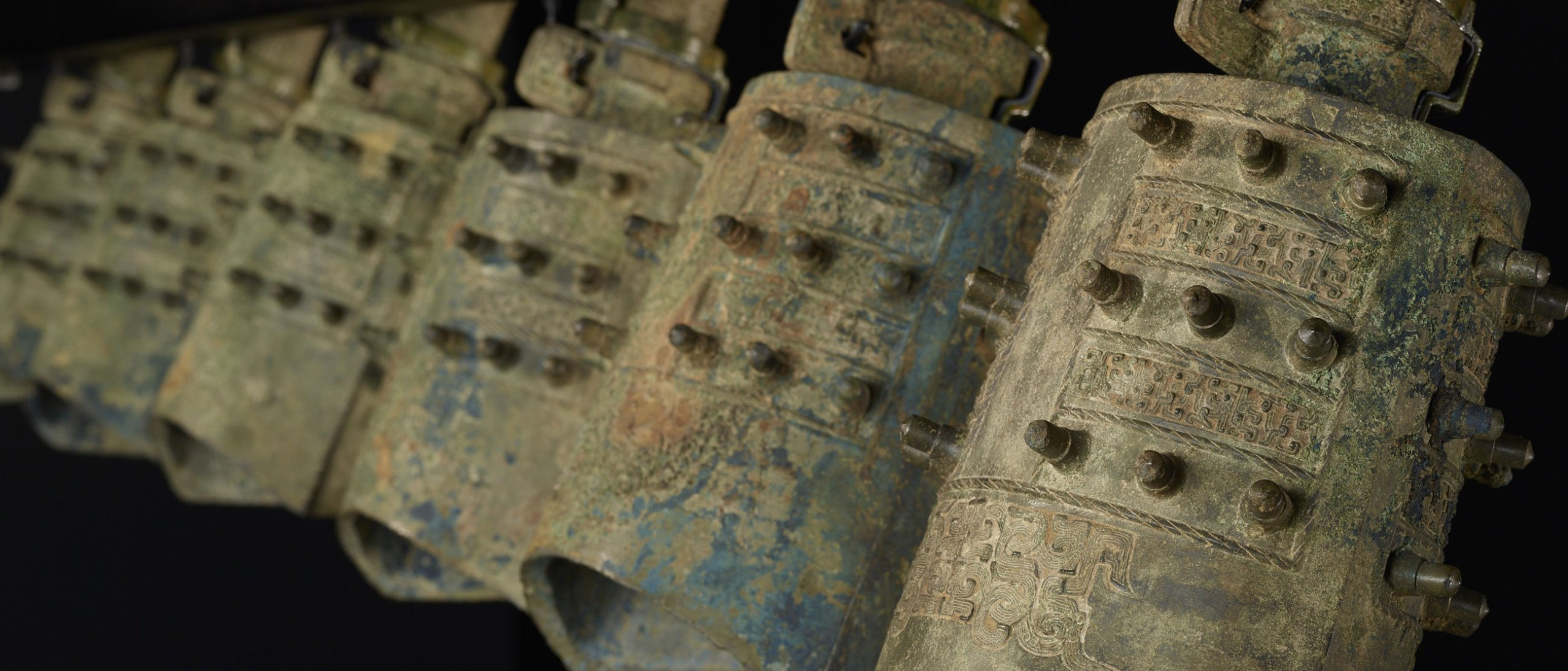 detail of 6ancient chinese bells