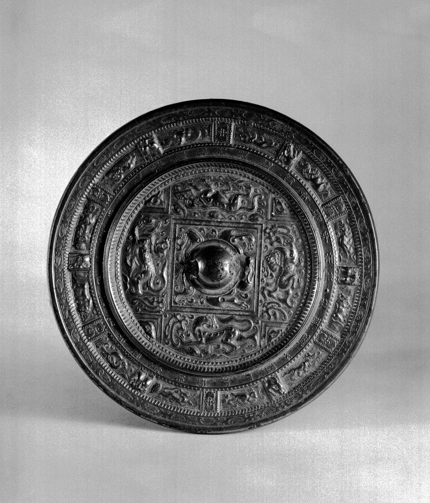 Photo, Bronze mirror. Sui dynasty, 589–618., Diam: 21.6 cm. (8 1/2 in.) Singer catalogue number: [1190].