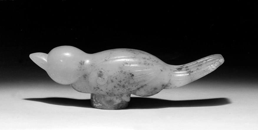 Photo, Jade pigeon. Han dynasty, 206 BCE–220 CE., L: 12.7 cm. (5 in.). Singer catalogue number: [786].
