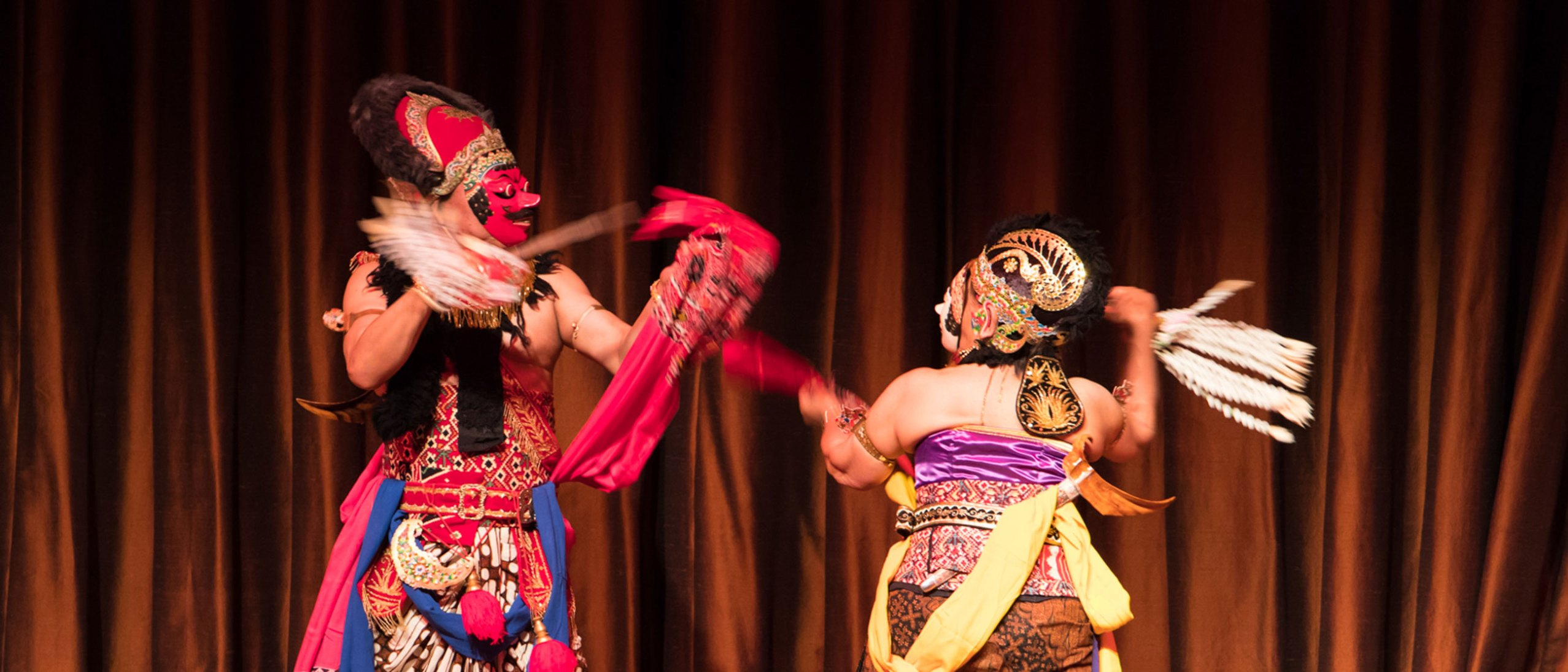 Indonesian dancers perform in the Meyer Auditorium at the Freer|sackler
