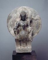 Stone sculpture of Skanda