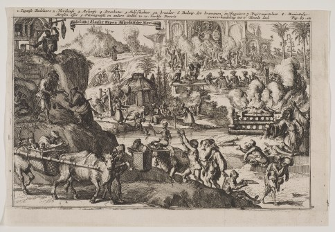 Engraving depicting Mexican religious austerities