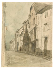A Street at Saverne 1858 Watercolor and graphite on wove paper F1898.147