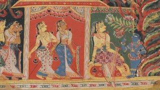 Krishna Carried Off by the Whirlwind Demon, from a Bhagavata Purana (Book of the Lord)