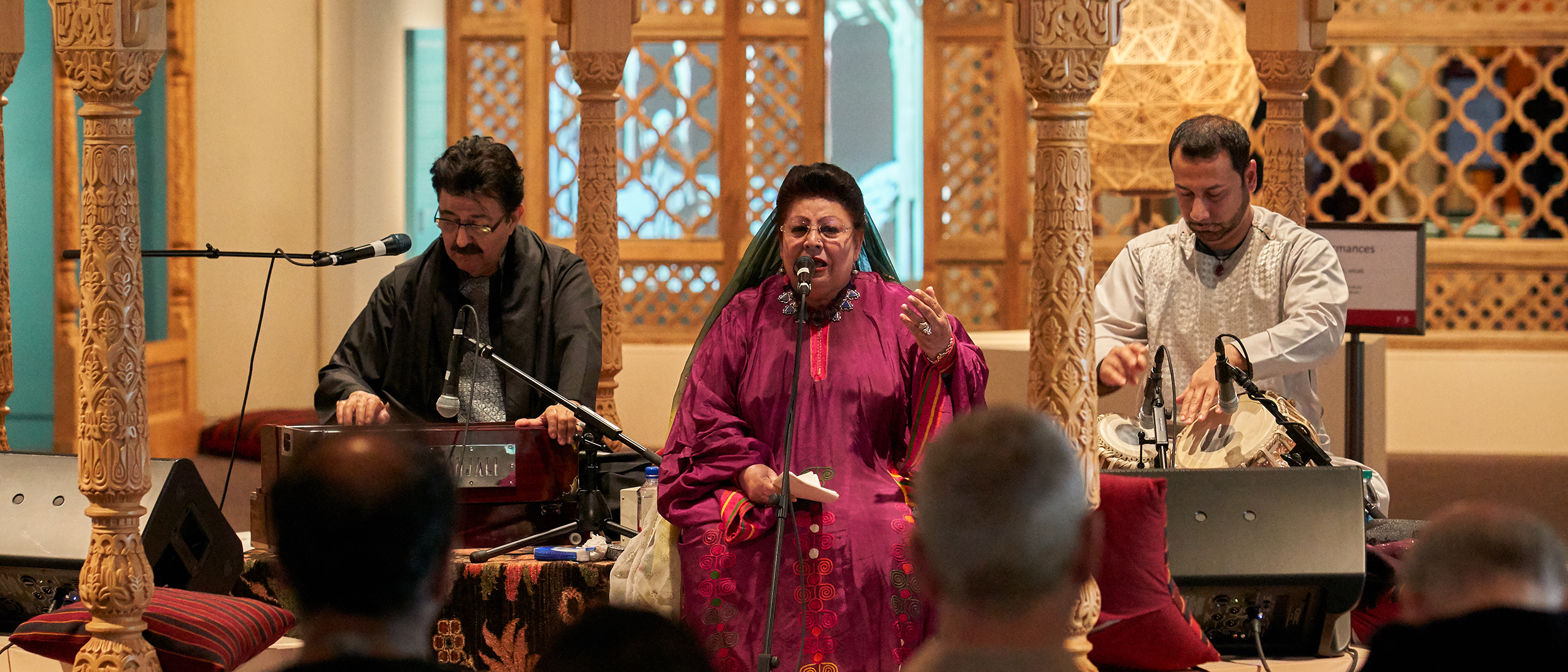 Vocalist Ustād Mahwash performing at the Freer and Sackler Galleries