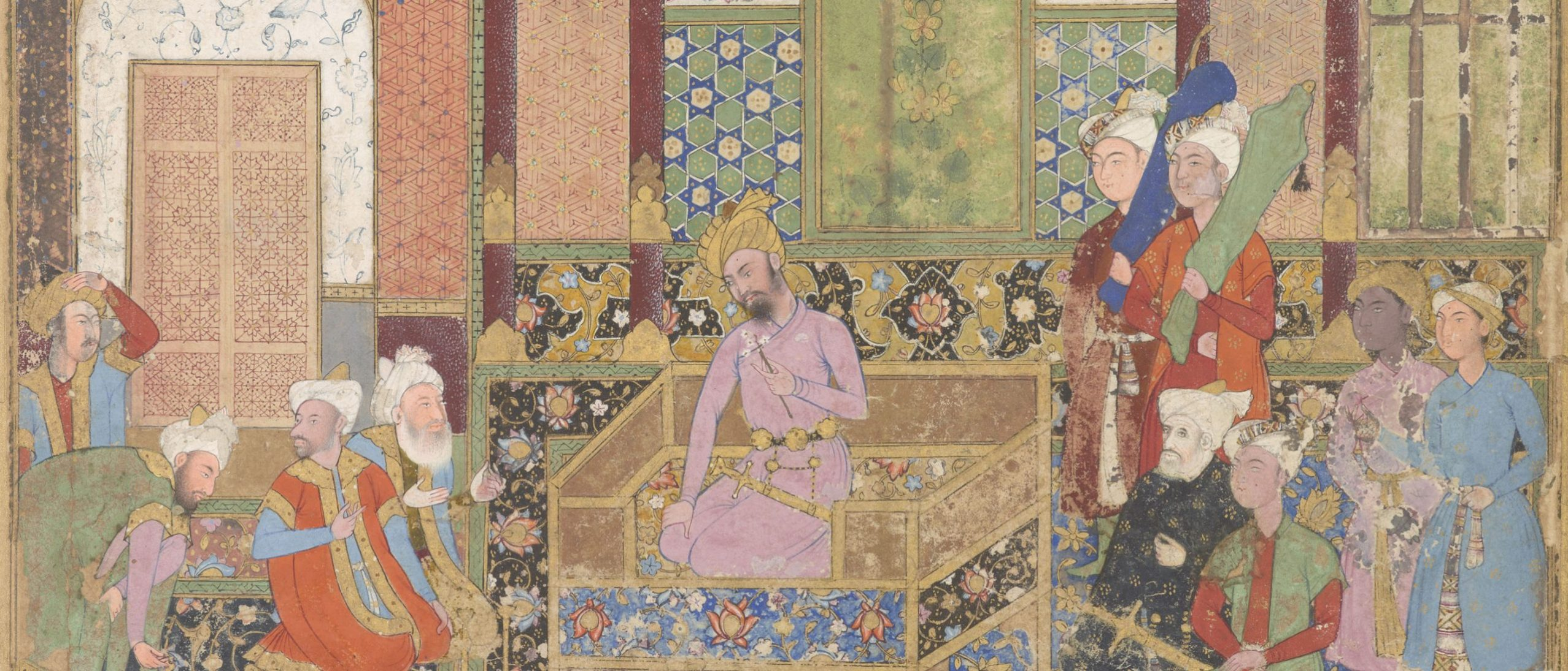 detail from a page from the baburnama