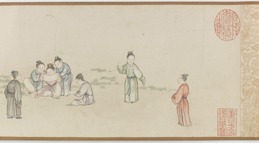 a handscroll depicting ladies and children from China