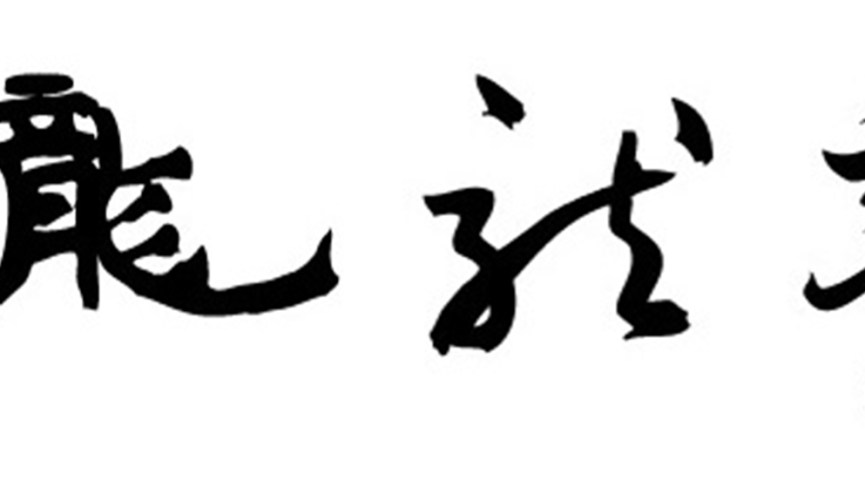 black chinese characters on white