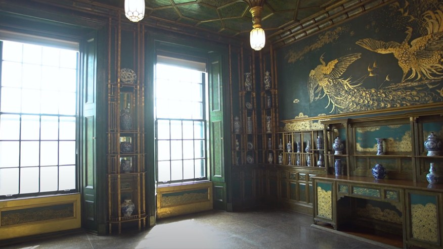 A view of the Peacock Room, with the shutters open.