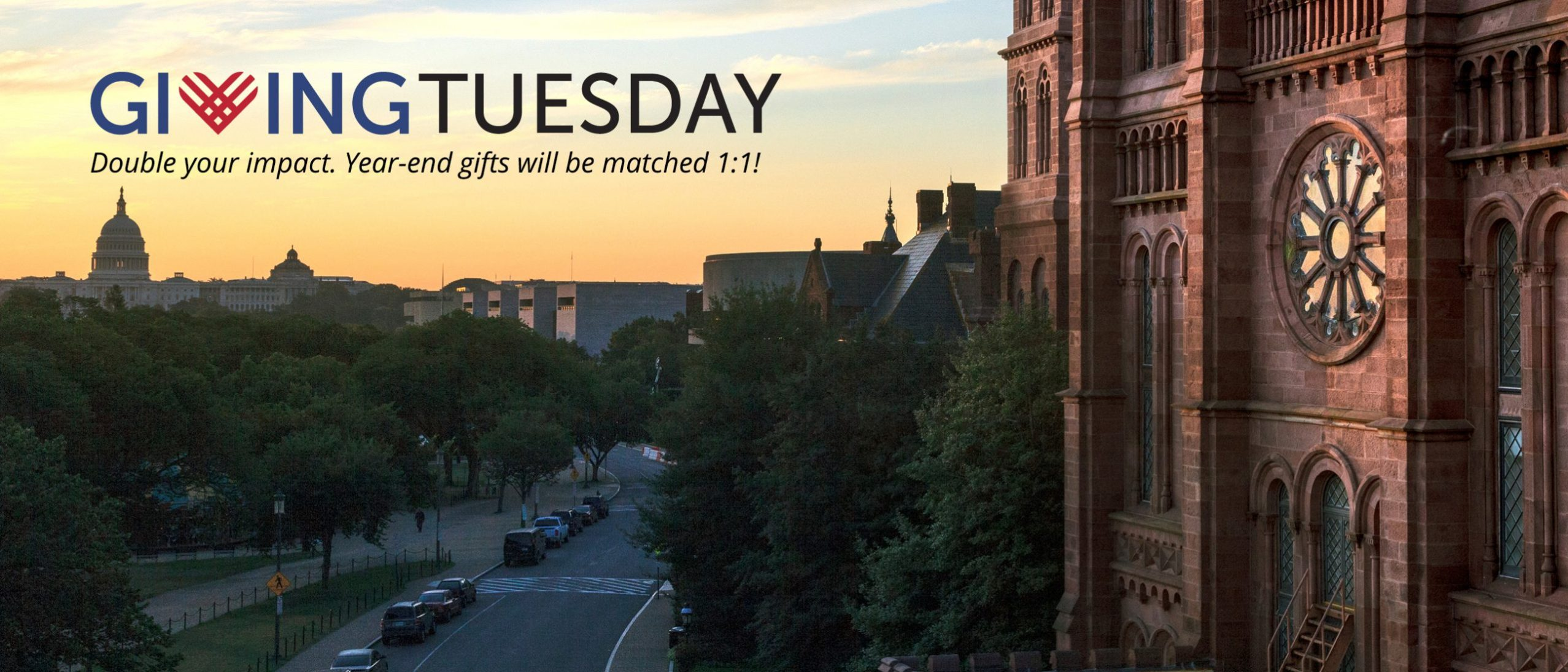 Giving Tuesday - double your impact. year end gifts will be matched 1:1!