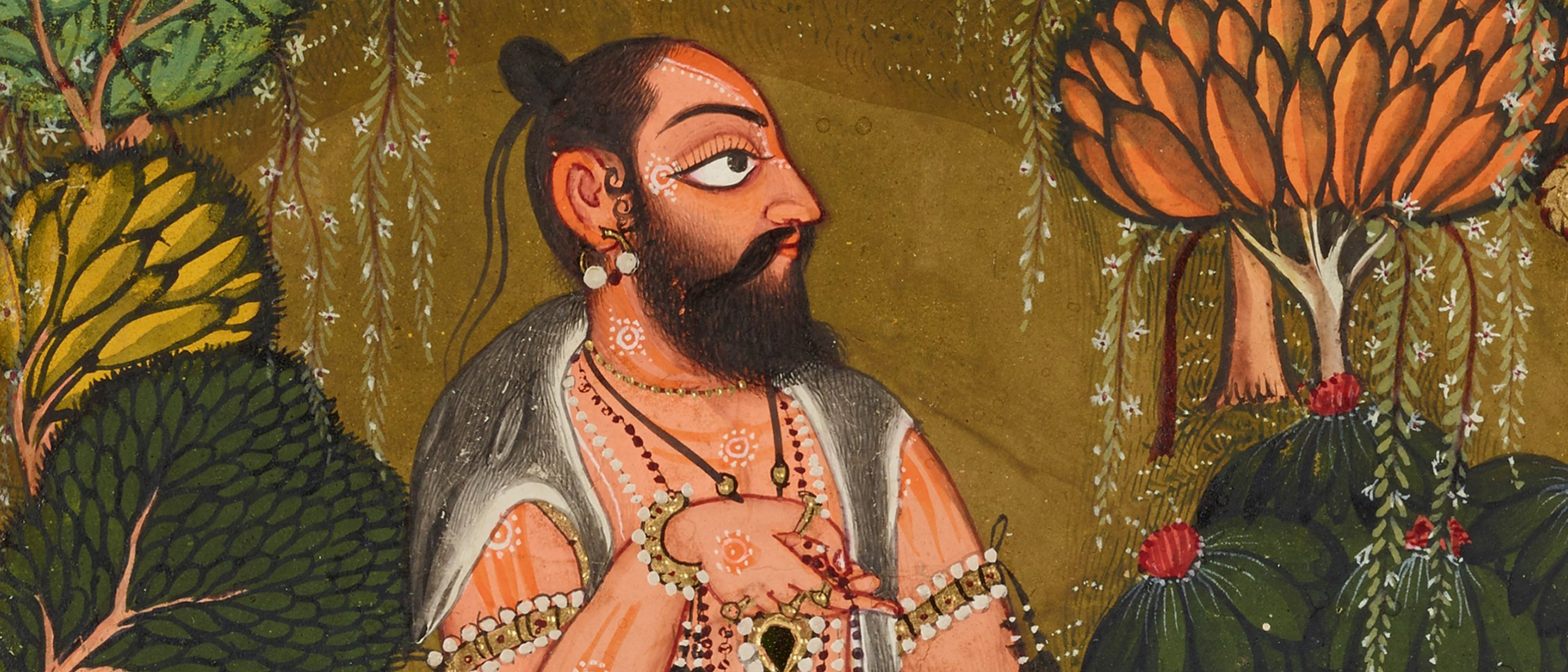 Detail: The Goddess worshipped by the sage Chyavana from a Tantric Devi series