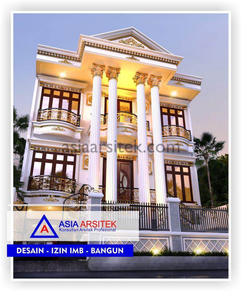 Rencana Desain Rumah Classic Klasik Di Jakarta-Tangerang-Bogor-Bekasi-Bandung-Jasa Konsultan Desain Arsitek Profesional - Desain Rumah Mewah - Arsitek Gambar Desain Rumah Klasik Mewah (2)