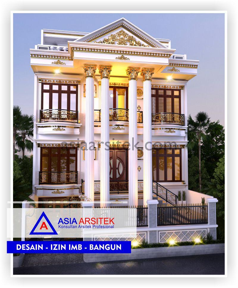 Rencana Desain Rumah Classic Klasik Di Jakarta-Tangerang-Bogor-Bekasi-Bandung-Jasa Konsultan Desain Arsitek Profesional - Desain Rumah Mewah - Arsitek Gambar Desain Rumah Klasik Mewah (4)