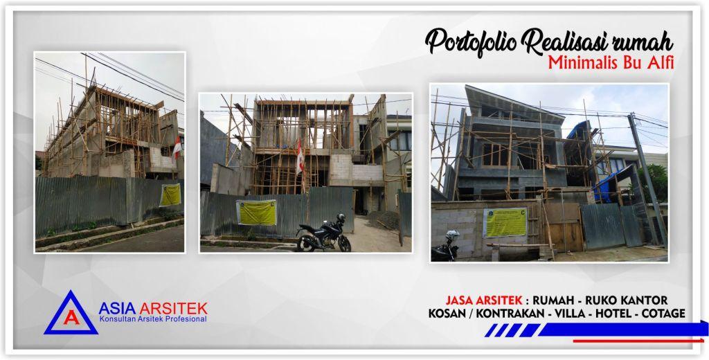 Portofolio Realisasi Rumah Bu Alfi-Arsitek Gambar Desain Rumah Minimalis Modern Di Jakarta-Bekasi-Surabaya-Tangerang-Bandung-Jasa Konsultan Desain Arsitek Profesional