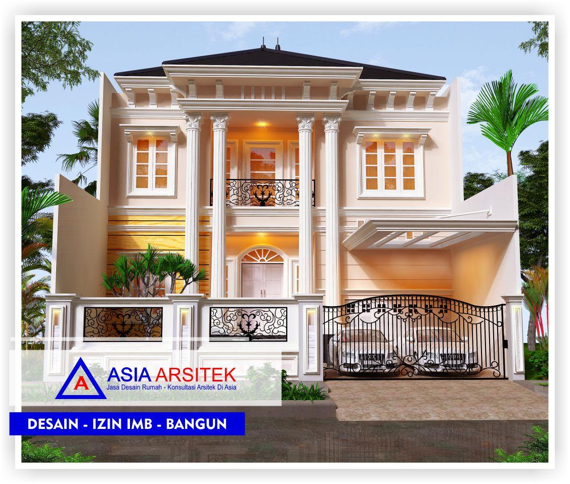 Portofolio Realisasi Proyek Rumah Mewah Klasik 2 Lantai Bu Maudy - Bekasi - Asia Arsitek