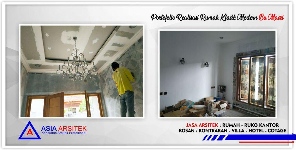 Kunjungan-realisasi-rumah-klasik-modern-3.5-lantai-bu-masri-jakarta-selatan-4