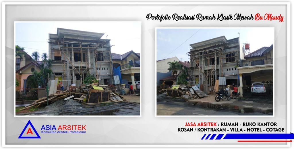 Portofolio Realisasi Gambar Desain Rumah Klasik Mewah Bu Maudy - Arsitek Desain Rumah Minimalis Modern Di Jakarta-Tangerang-Bogor-Bekasi-Bandung-Jasa Konsultan Desain Arsitek Profesional 7