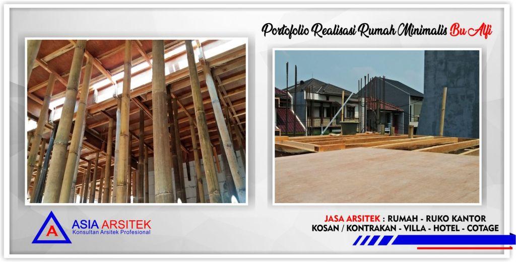 Portofolio Realisasi Rumah Minimalis Bu Alfi Di Jakarta-Bogor-Tangerang-Bekasi-Bandung-Jasa Konsultan Desain Arsitek Profesional - Desain Rumah Mewah - Arsitek Gambar Desain Rumah Klasik Mewah 4