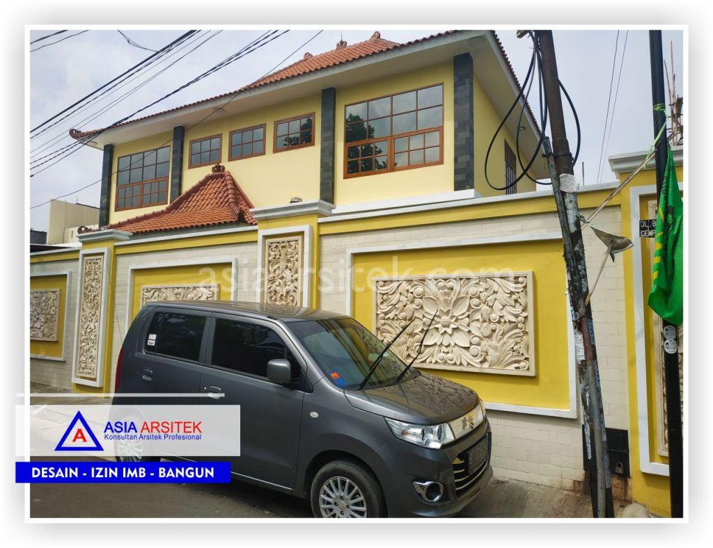 Tampak Depan Rumah Bali Semi Joglo Bpk Rudy Di Tangerang-Jakarta-Bogor-Bekasi-Bandung-Jasa Konsultan Desain Arsitek Profesional - Desain Rumah Mewah-Arsitek Gambar Desain Rumah Klasik Mewah 3
