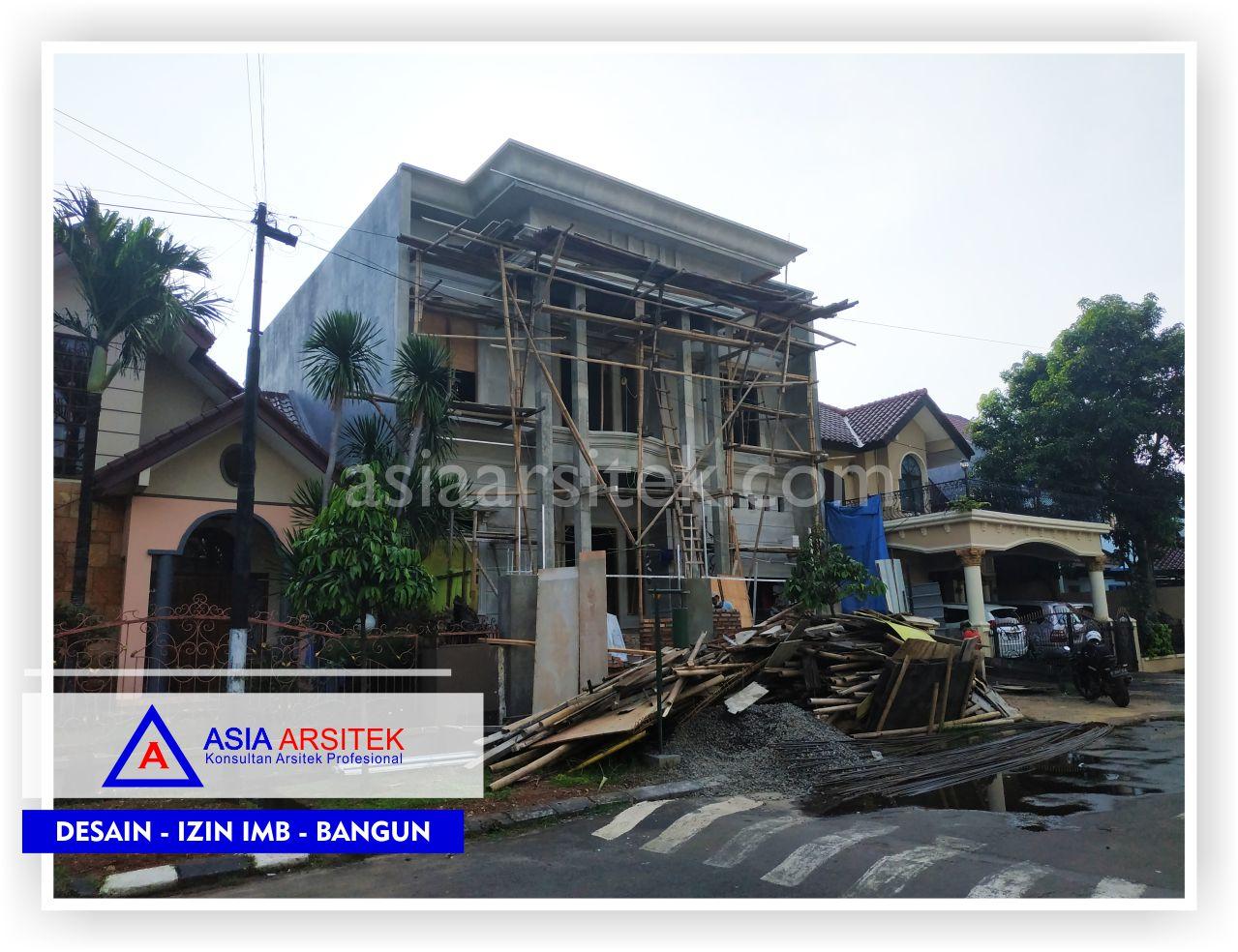 Tampak Depan Rumah Klasik Mewah Bu Maudy - Arsitek Desain Rumah Minimalis Modern Di Jakarta-Tangerang-Bogor-Bekasi-Bandung-Jasa Konsultan Desain Arsitek Profesional 1