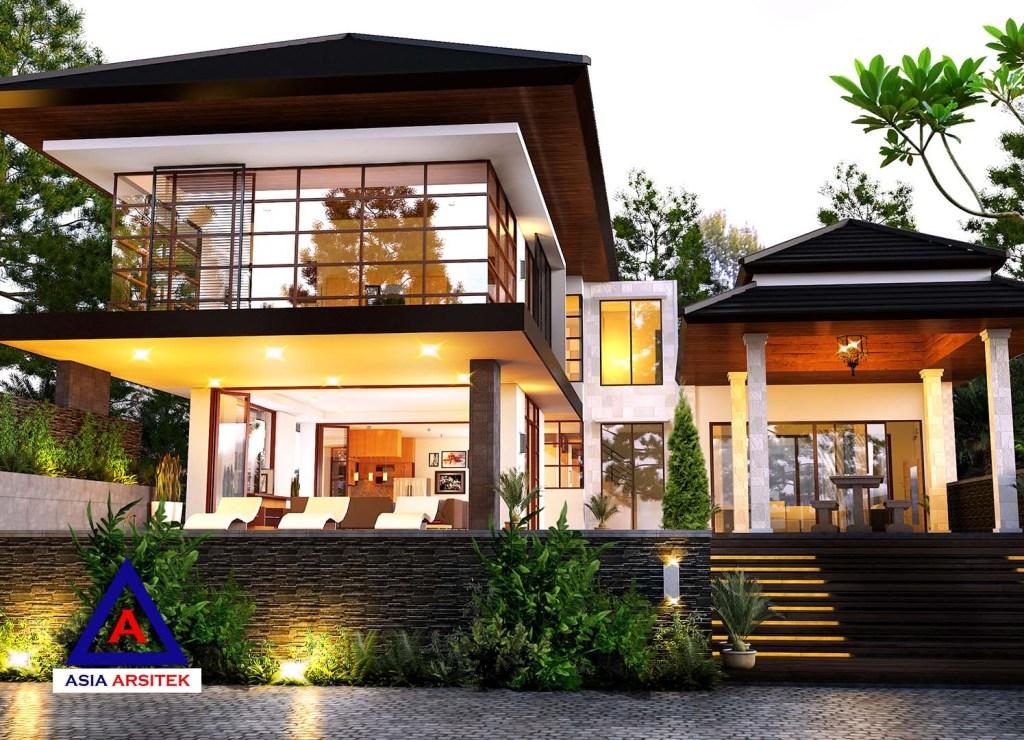 Desain Rumah Mewah Dengan Biaya Murah  jasa arsitek desain rumah mewah tropis villa bali di puncak